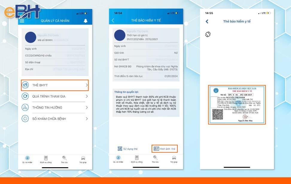 Tra cứu thông tin thời hạn sử dụng thẻ BHYT qua hình ảnh thẻ BHYT.